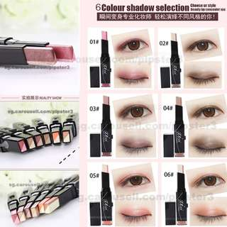 3 FOR $10!! Make Up Double eye shadow stick bar korea junior