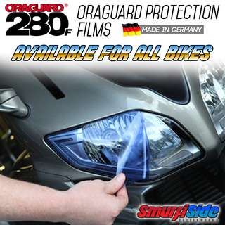 ORAGUARD Paint protection film for motorcycle and car headlights