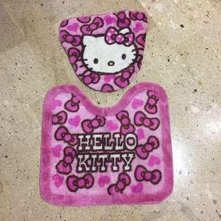 Hello Kitty馬桶蓋套、踏墊
