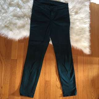 J Brand Green Stretch High Waisted Leggings
