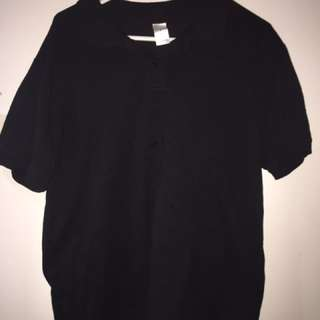 Plain Black Polo Size Large