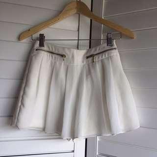 Zara Silky White Skort