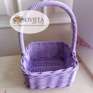Purple Rattan Basket