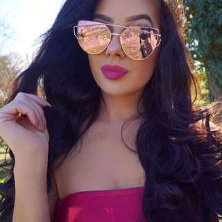 Rose Gold Fashion Sunglasses