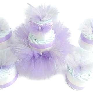 Tutu Princess Diaper Cake Set For Baby Shower