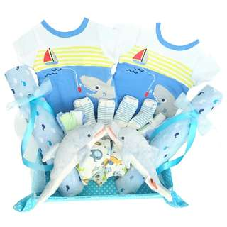 Ocean World Baby Gift Basket For Twins