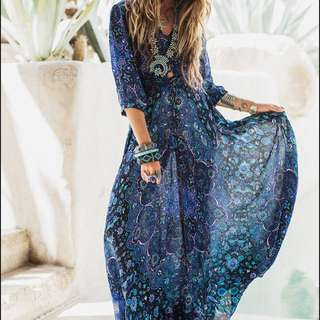 Imitation Spell Gypsy  BNWT Sheer Size Small Maxi Dress Throw over