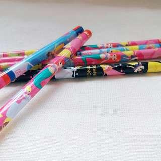 迪士尼公主系列HB鉛筆(日本製)