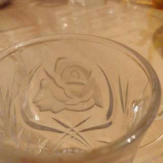 Riccardo made in Japan rose glass 2 Pieces,after clean up, no label now
