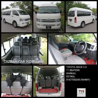 Van Toyota Hiace, Exora & Alza For Rent