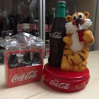 可口可樂 Coca Cola 1998 虎年錢甖 東東雲吞麵 紀念品
