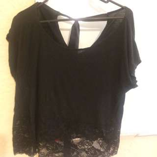 Black Sexy Top With Lace