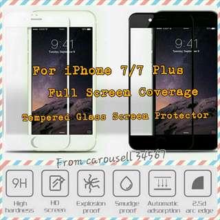 [Instock][For IPhone 7][Full Screen Coverage]Full Screen Coverage Tempered Glass For IPhone 7/ Iphone 7 Plus