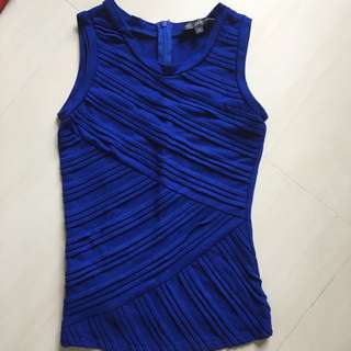 TCL Theclosetlover Conalt Blue Tank Top Blouse S