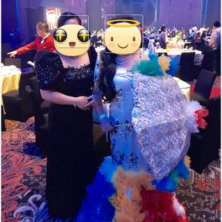 Filipiniana Gown Black Neoprene