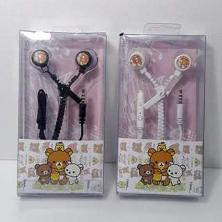 Headset Zipper Resleting Rilakkuma