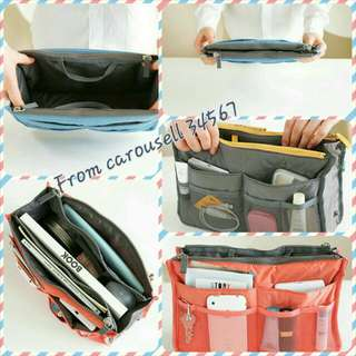 Bag In Bag/ Bag Organizer / Travel Bag Accessories Muti-Functional Bag  [Instock][Quality Guaranteed][Brand New][Free Normal Mail][Meet Up]
