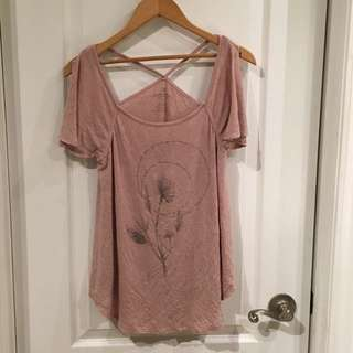 AEO Pretty Pastel Pink Top