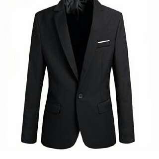 Men's Slim Fit Stylish Casual One Button Suit Coat Jacket Business Blazers Men Coat High Quality Men Blazers Black