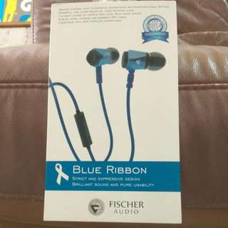 BNIB blue ribbon earphone