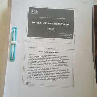 SIM UOL HRM notes