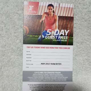 Fitness First 5 Day Guest Pass