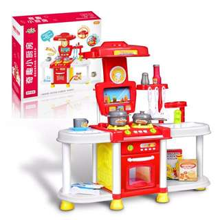 Children Kitchen Play Set Cooking Pretend Role Toy Play Set