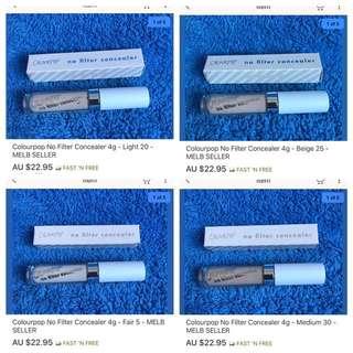 Colourpop No Filter Concealers In Stock Now!!