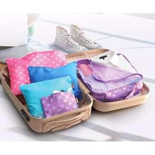 法國FORUOR五件式旅行衣物收納袋組/收納組/盥洗袋/化妝袋/衣物袋/化妝包/ 收納包/旅行包/旅行袋