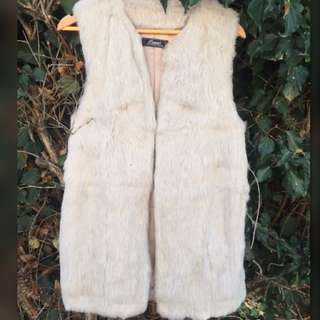 Sleeveless Fur Coat