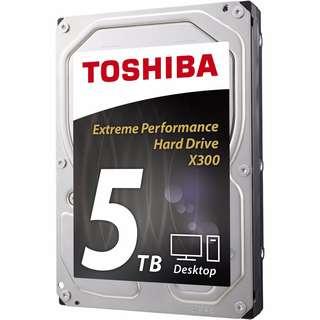 Toshiba X300 5TB Desktop 3.5 Inch SATA 6Gb/s 7200rpm Internal Hard Drive HDD
