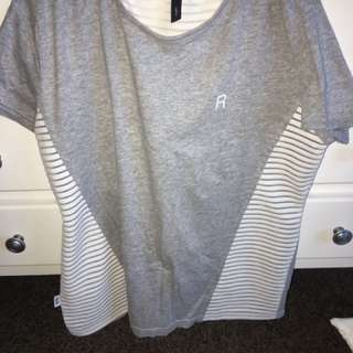Grey And White RPM Tee
