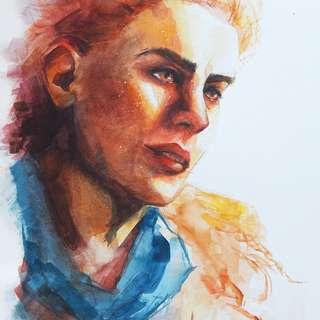 Custom Watercolour Portrait Painting