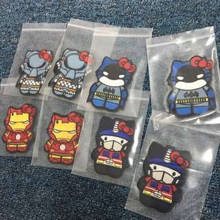 BNIP Kitty Heroes Tactical Velcro Morale Badge ( Ironman / Predator / Optimus Prime / Batman )