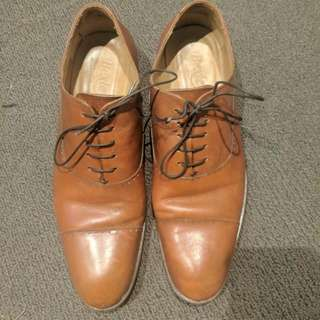 High Quality Bexley French made Brown Oxford Dress Shoes EU44 $120