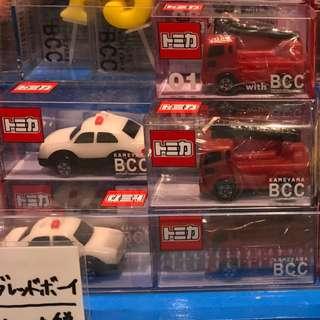 [[生日蠟燭]] 日本トミカ Tomica 玩具車 警車 消防車