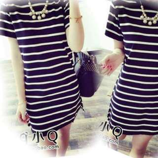 Striped T dress