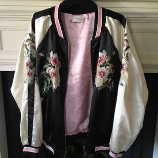 Reversible Satin Embroidered Jacket