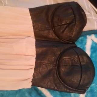 Leather Boob tube Dress
