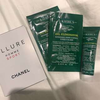 Men Chanel Kiehls  Sample Set