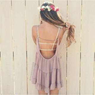 Original Brandy Melville Blush Rayon Jada Dress