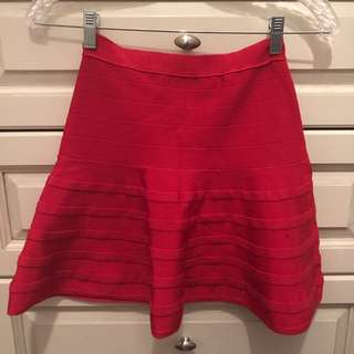 Red A-Line Skirt From Marciano
