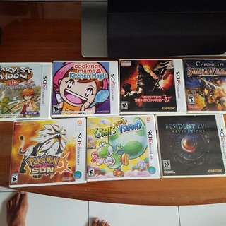 3ds And PS4 Games