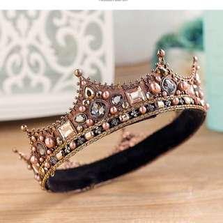歐美巴洛克结婚皇冠女王髮飾