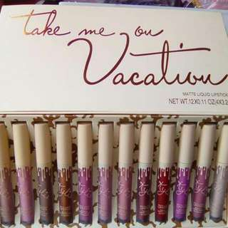 Take Me To Vacation Kylie Matte Lip Set 12pcs