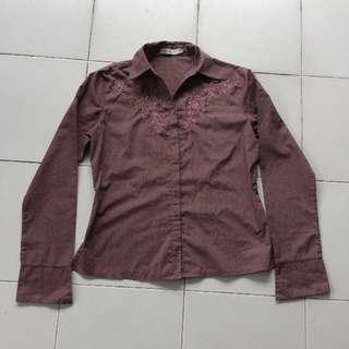 Accent Purple-Brown Shirt