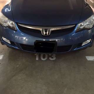 Honda Civic Fd Front And Rear Bumper