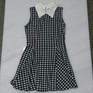 🚚 黑白連身洋裝