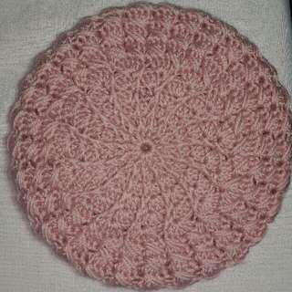 Handmade Beret in Crochet PINK