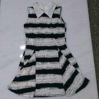 🚚 橫條連身洋裝